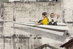 [PHOTOS/VIDEO] Ernest Zacharevic On A Mission To Paint Seven Murals In Ipoh