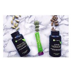 I've had so many people ask me about Triple Threat today so I'm going to give y'all some info! Greens- detox, alkalize, balance ph levels, energy, 12 servings fruits and veggies. Drink them once a day whenever you feel like you need energy! Thermofit- burn calories, boost metabolism, energy, curb appetite Take twice a day before meals. Fatfighters- block 70% of carbs and 30% of fat from meals and balance blood glucose levels. Take once a day after your biggest or most unhealthy meal. This