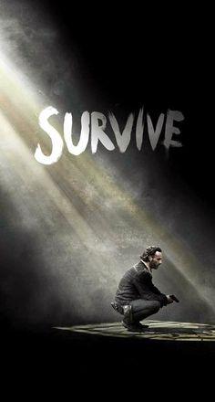 Download The Walking Dead Season 5 Survive Rick iPhone 6 Plus HD Wallpaper