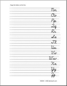 Cursive Letters - Left Handed Handwriting - Writing - DN-Style Font - preview 1
