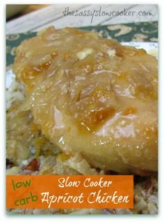 Healthy Apricot Chicken in the Slow Cooker!