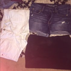 Shorts and skirt White shorts size 15 American eagle shorts size 13 skirt large Shorts Jean Shorts