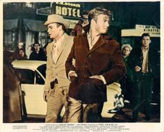 * Robert Redford and Marlon Brando * // Cinema lobby card for 'The Chase' (1966)