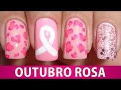 ▶ Unhas Decoradas - Outubro Rosa 2013 - YouTube