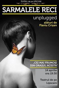 Joi, 14 Aprilie 2016, ora 19:30, Teatrul de pe Lipscani, Sala Mare, Bucuresti 14 Aprilie, Joi, Concert, Movies, Movie Posters, Film Poster, Films, Popcorn Posters, Film Books