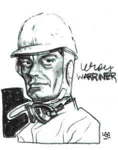 Leroy Warriner, US midget race car Hall of Famer...art by Lee Taylor