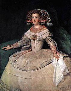 Diego Velázquez (Spanish [Baroque, Portrait] Portrait of the Infanta Maria Theresa of Spain, Kunsthistorisches Museum, Vienna. Spanish Painters, Spanish Artists, Rembrandt, European History, Art History, Maria Theresa Of Spain, Portrait Sculpture, Renaissance, Kunsthistorisches Museum Wien