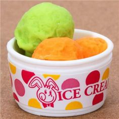 """ice cream cup orange eraser from Japan by Iwako by Iwako. $0.99. by Iwako. kawaii eraser from Japan. diameter: 2.5cm (1""""). Import from Japan. very good quality. cute Japanese eraser"""