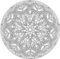 Free Intricate Printable Mandalas Coloring Pages