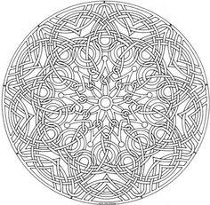 Adult Coloring Page Lots Of Intricate Mandalas Intricate Mandala