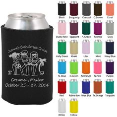 Custom Bachelorette Koozies (Clipart 6081) Bachelorette Cruise - Bachelorette Favors - Bachelorette Party Koozie