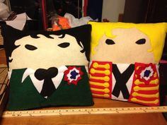 Les Miserables Enjolras and Grantaire Pillows