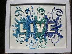 """live"" quilling"
