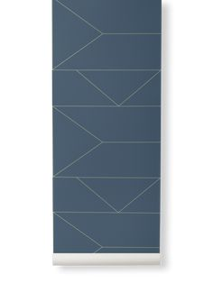 Ferm Living | Lines Wallpaper | Various Colours - Dark Blue