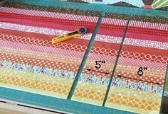 tutorial. Strip and flip baby quilt. Cluck cluck sew. Great for using up left over binding scraps!