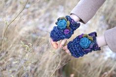 Time 4 You Fingerless glovestake time to by ValerieBaberDesigns