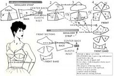 Drafting a bra pattern - It looks like this site has buckets of free pattern drafting tutorials.