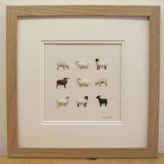 I just want to pet the little sheeps! Collage artwork | notonthehighstreet.com