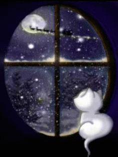 Merry Christmas & Happy New Year ! - Random Up Christmas Scenes, Noel Christmas, Vintage Christmas Cards, Christmas Cats, Winter Christmas, Christmas 2017, Christmas Time Is Here, Merry Christmas And Happy New Year, Merry Christmas Wishes