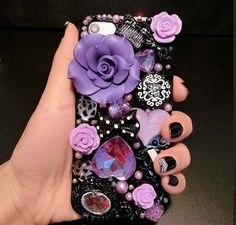 Luxury iphone 8 crystal back cover Cases Bling purple flower cases for samsung galaxy note 4 5 edge PLUS PLUS PRIME 2017 rhinestone Cases Iphone 5s, Iphone Cases, 5s Cases, Minion Phone Cases, Cheap Iphones, Galaxy Note 4, Samsung Galaxy S4, Purple Flowers, S7 Edge