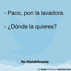 Pon la lavadora. #humor #risa #graciosas #chistosas #divertidas