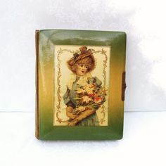 Antique Photo Album  Antique Celluloid  Victorian Decor  Photography  Photo Book  Gibson Girl Glamour Lady