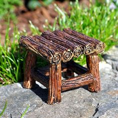 Appalachian Table. www.teeliesfairygarden.com . . . This wonderful primitive American folk art piece of furniture would be perfect in a farmer's home! Add this Appalachian table to your fairies' home and they'll surely be delighted! #table
