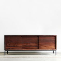 credenza ~ a credenza is more often a type of sideboard used in the home or restaurant. In dining rooms, it is typically made from wood and used as a platform to serve buffet meals. Wood Furniture, Modern Furniture, Furniture Design, Furniture Storage, Dream Furniture, Simple Furniture, Classic Furniture, Furniture Ideas, Modern Credenza
