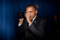 Barack Obama with a 5D Mark II