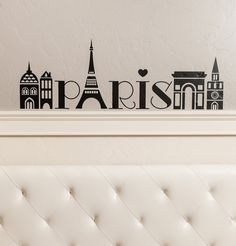 Paris Girls Tower city wall decal vinyl lettering quote sticker art etsy