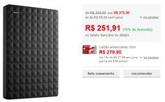 HD Externo Portátil Seagate Expansion SRD0NF1 1TB << R$ 22671 >>