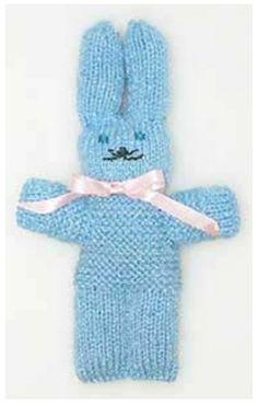 little knit bunny Knitted Doll Patterns, Puppet Patterns, Knitted Dolls, Knitting Patterns, Crochet Home, Crochet For Kids, Loom Knitting, Baby Knitting, Crochet Blanket Tutorial