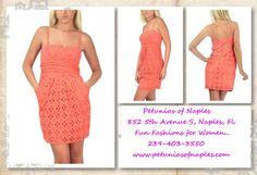 Coral Eyelet Sundress from Petunias of Naples...$129.99!!!