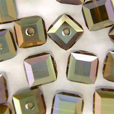 Swarovski 5601 4mm Crystal Bronze Shade B 2X Cube Bead 12 Pack