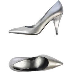 Nine West Women's Silver Pump Size 7 Soft Leather