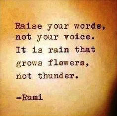 We absolutely agree. #quote #lifelessons #thoughtoftheday #wordsofwisdom #poetry #rain flowers #life #learning #Rumi