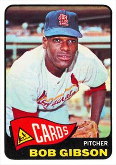 "Robert ""Bob"" Gibson is a retired American baseball pitcher who played St Louis Baseball, St Louis Cardinals Baseball, Stl Cardinals, American Baseball League, National Baseball League, National League, Baseball Card Values, Baseball Cards, Cy Young Award"