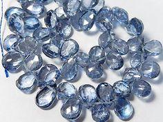 Semi Precious Gemstone Briolette. Mystic Blue Quartz by LuxBeads