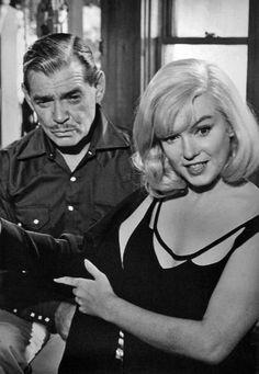 "Clark Gable Marilyn Monroe in ""The Misfits"" 1961"