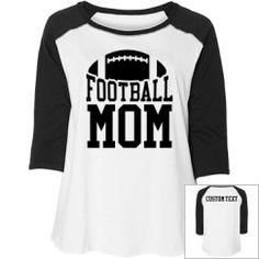 Football Mom Plus Sized Raglan Tackle Football, Football Mom Shirts, Custom Football, Team Shirts, Women's Football, Football Spirit, Sports Decals, Spirit Shirts, Spirit Wear