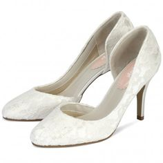 Cathy by Pink for Paradox London Ivory or White Dyeable Vintage Wedding or Occasion Shoes