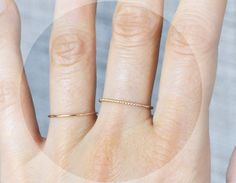 Gold twist ring delicate stacking ring dainty ring by edor