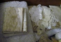 Lace COLLECTION I startet more than 30 years ago # 6 All in a large drawer in a Antique Armoire.