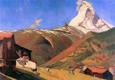 The artwork F.Vallotton, View of Zermatt - Felix Vallotton we deliver as art print on canvas, poster, plate or finest hand made paper. Mountain Art, Mountain Landscape, Landscape Art, Landscape Paintings, Landscapes, Zermatt, Pierre Bonnard, Matisse, Toulouse
