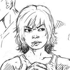 Sketch - Estudo de um personagem Diaurum - Rascunho rápido de hora do almoço #graco #Krita #Rupture #guy #drawing #sketch #wip