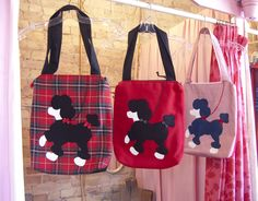 Cute, yet sophisticated, poodle bags from Weezi's.