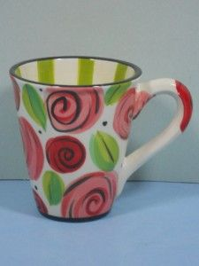 NEW Hausenware Designed by Mary Rose Young Ceramic 16 Ounce Mug Made