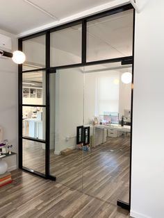 Our company manufactures aluminum and glass partitions that are the best solution for an office zoning. Glass Partition Designs, Glass Wall Design, Glass And Aluminium, Aluminium Doors, Modern Office Design, Modern Interior Design, Glass Office Doors, Glass Partition Wall, Showroom Design