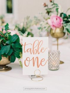 Veronique Rose Gold Foil Table Numbers - Rose Gold Table Number Cards - Two Sided - Wedding Table Nu Gold Table Numbers, Wedding Table Numbers, Wedding Tables, Rose Gold Table, Silver Table, It's All Happening, Wedding Reception Decorations, Wedding Ideas, Wedding Inspiration