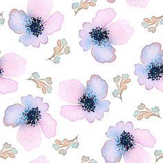 シームレスなパターン、花柄ウォーターカラー 穏やかな色合いが特徴です。雌 ベクターアートイラスト